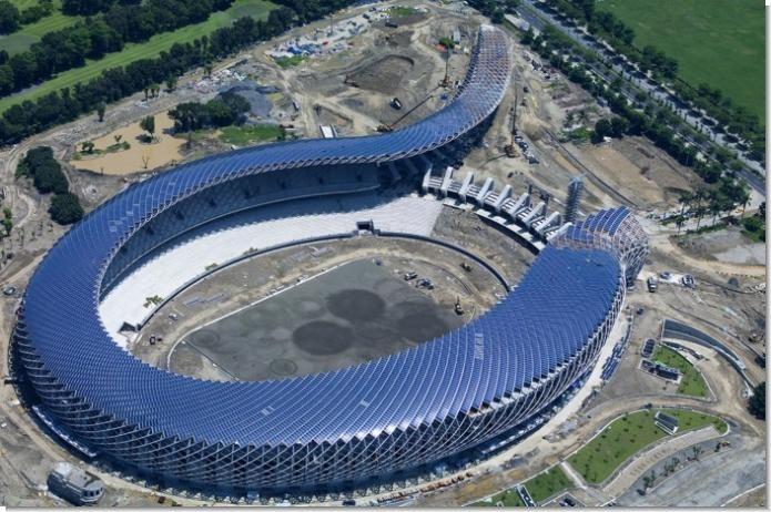 Еко-стадіон на сонячній енергії в Тайвані (ВІДЕО)